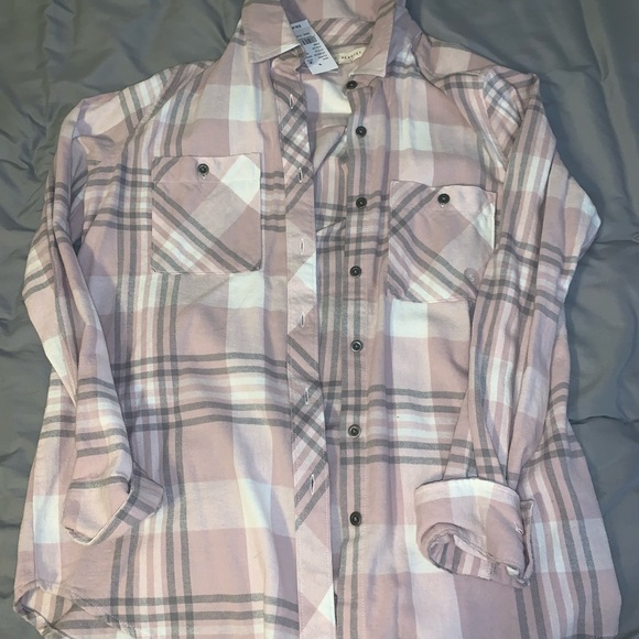 PacSun Sweaters - PacSun pink flannel